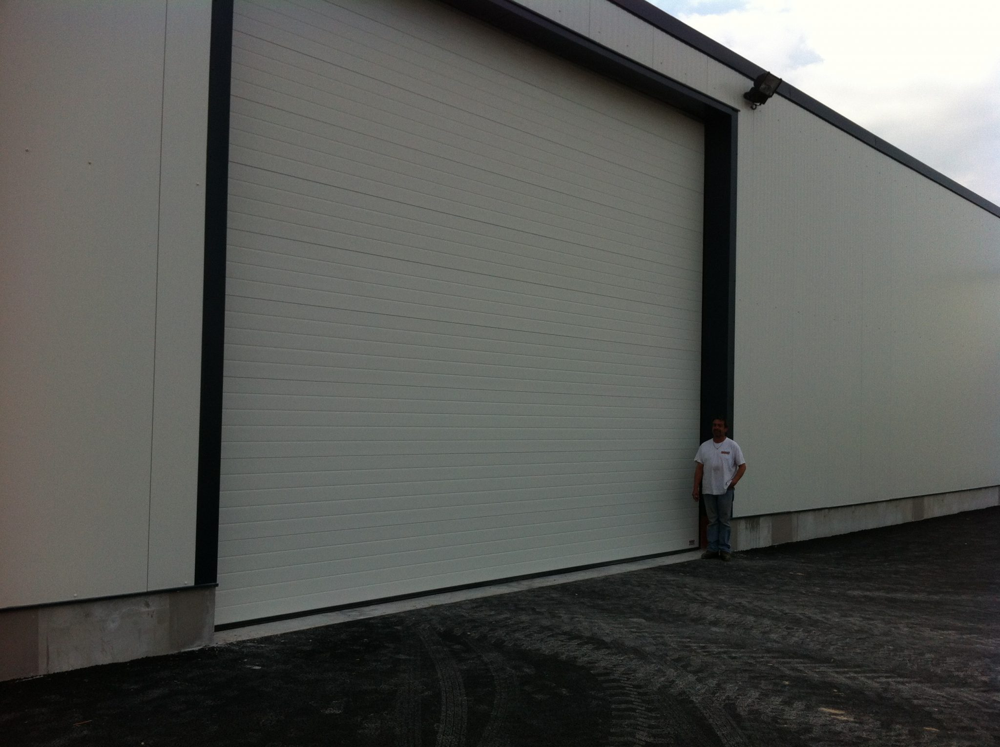Portes sectionnelle industrielle sure mesure portech - Porte de garage industrielle occasion ...