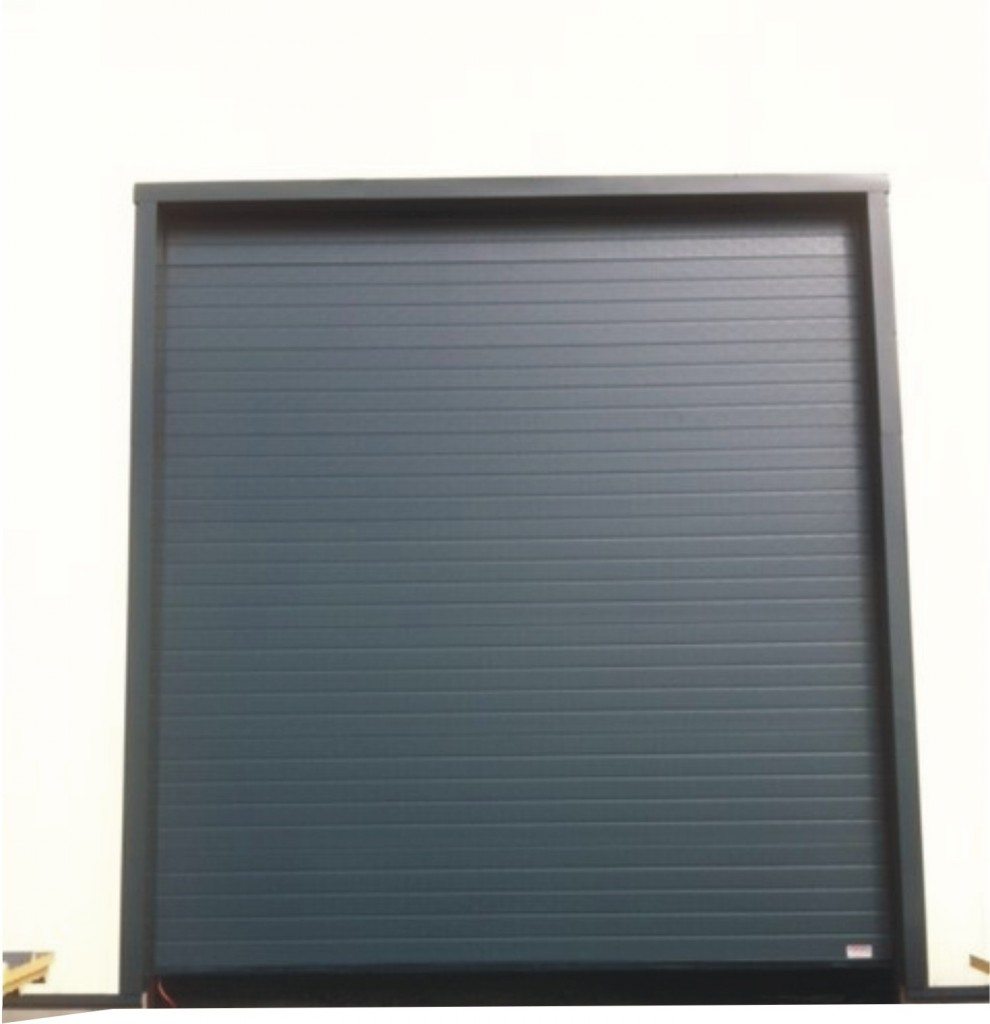 porte sectionnelle ral 7016 portech. Black Bedroom Furniture Sets. Home Design Ideas