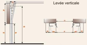 levée verticale porte sectionnelle