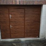 porte Sectionnelle chene doree avec portillon ref Evry