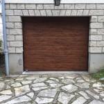 porte de garage  chêne dorée