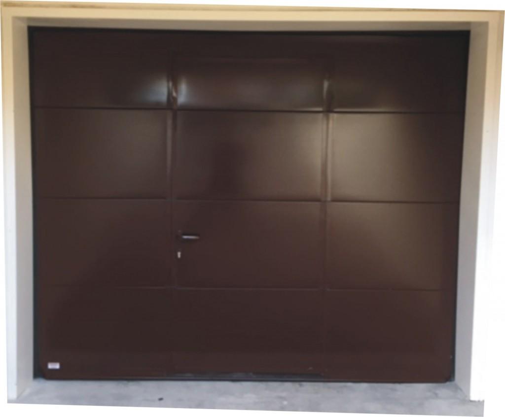 Porte sectionnelle lisse ral 7016 p portech - Porte de garage haut de gamme ...