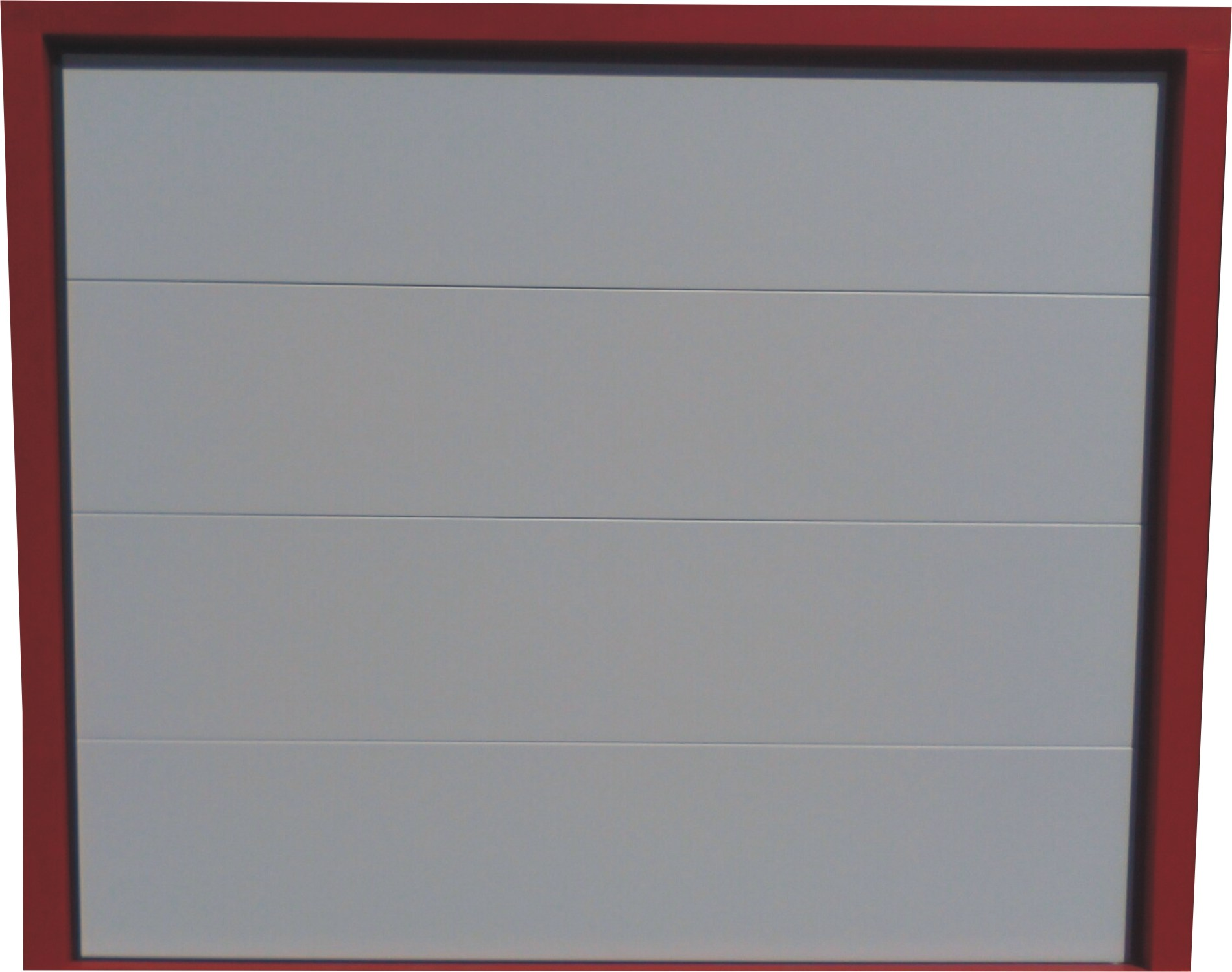Portes sectionnelle lisse blanche portech for Porte de garage sectionnelle lisse