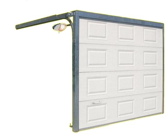 Porte Sectionnelle Grande Largeur Portech - Porte de garage sectionnelle avec porte pvc blanc