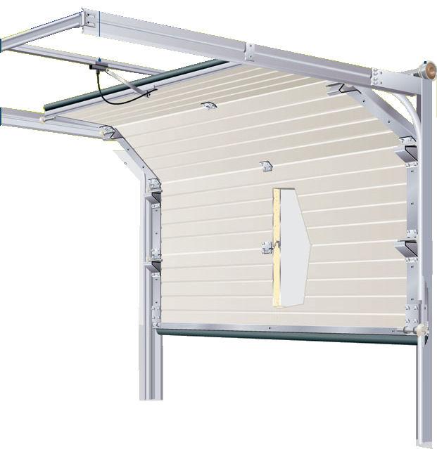 Porte sectionnelle lisse ral 7016 p portech for Porte de garage sectionnelle lisse