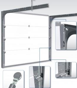 porte sectionnelle avec ressort d extension