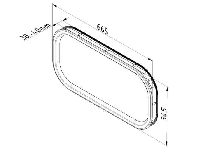 hublot ovale pour porte sectionnelle portech. Black Bedroom Furniture Sets. Home Design Ideas