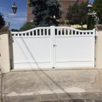 portail Blanc double battens