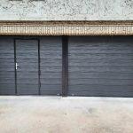 porte de garage noir